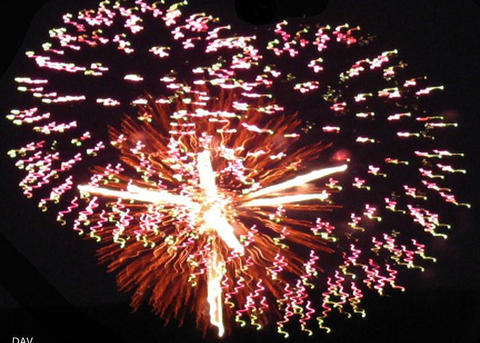 Fireworks Fun Greeting Card featuring the photograph Fireworks Fun by Debra   Vatalaro