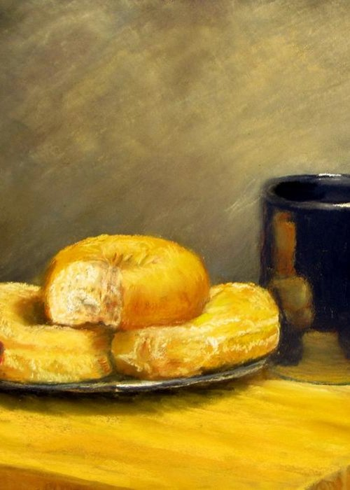 Still Life Greeting Card featuring the painting First Call...breakfast by Jack Skinner