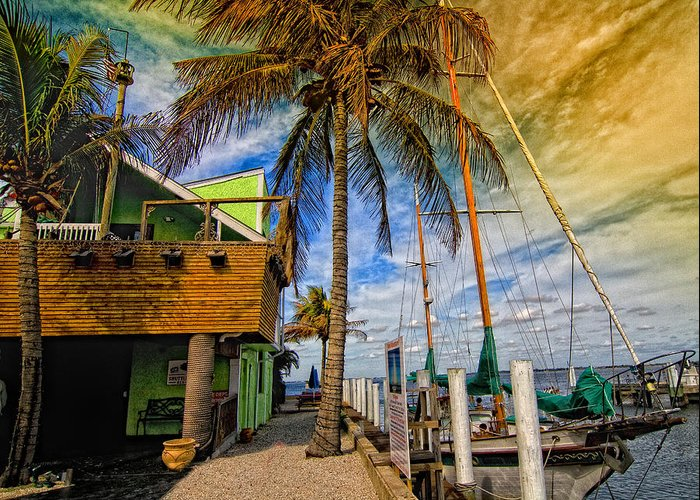 Seascape Greeting Card featuring the photograph Fisherman Village by Gina Cormier