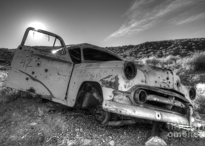 Transportation Art Greeting Card featuring the photograph Fixer Upper by Bob Christopher