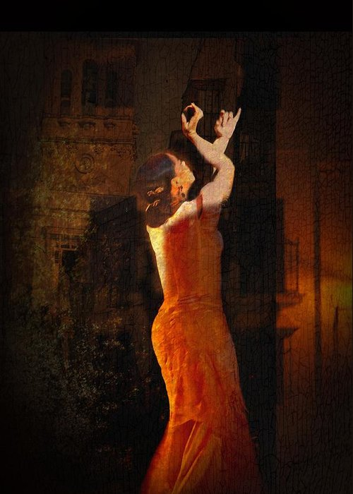 20-30 Greeting Card featuring the photograph Flamenco In The Streets by tim Kahane