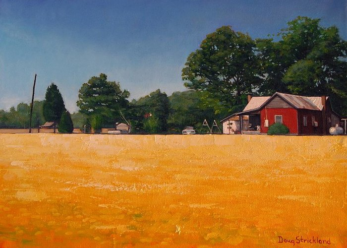 Doug Strickland Greeting Card featuring the painting Flower Field 1 by Doug Strickland