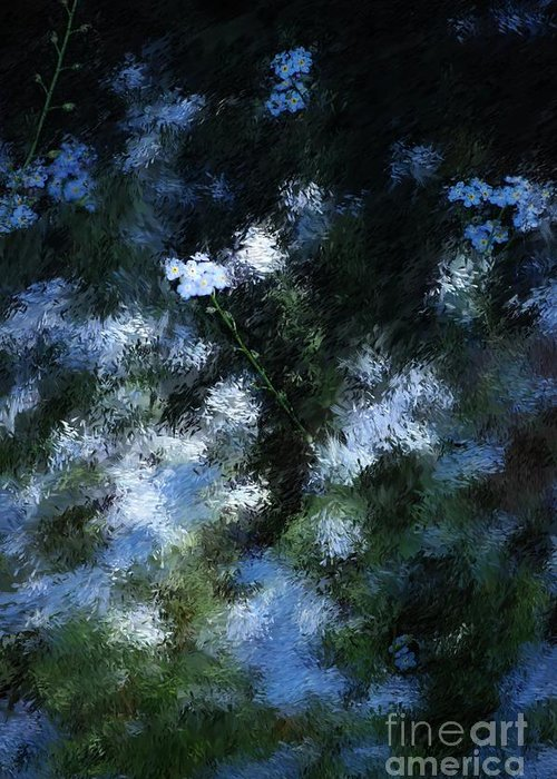 Abstract Greeting Card featuring the digital art Forget Me Not by David Lane