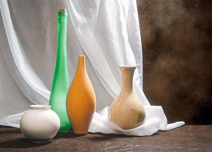 Vase Greeting Card featuring the photograph Four Vases II by Tom Mc Nemar