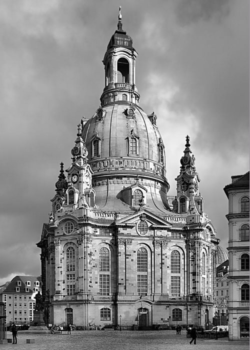 Lutheran Greeting Card featuring the photograph Frauenkirche Dresden - Church Of Our Lady by Christine Till
