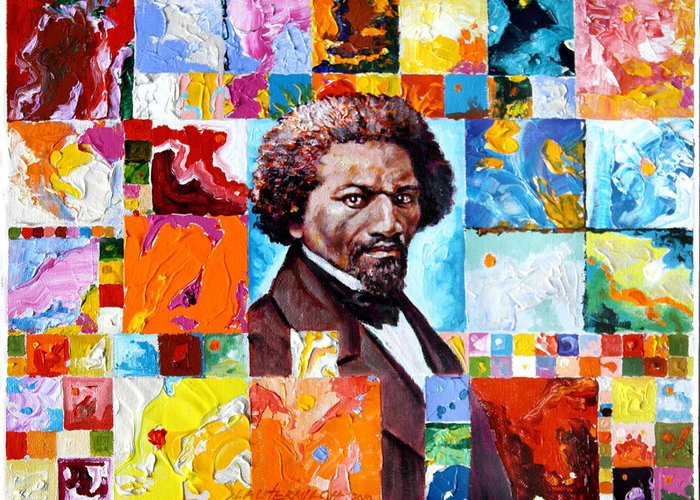 Frederick Douglass Greeting Card featuring the painting Frederick Douglass by John Lautermilch