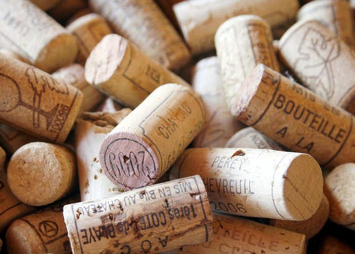 Wine Corks Greeting Card featuring the photograph French Wine Corks by Georgia Fowler
