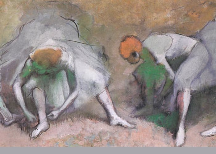 Frieze Of Dancers Greeting Card featuring the painting Frieze Of Dancers by Edgar Degas