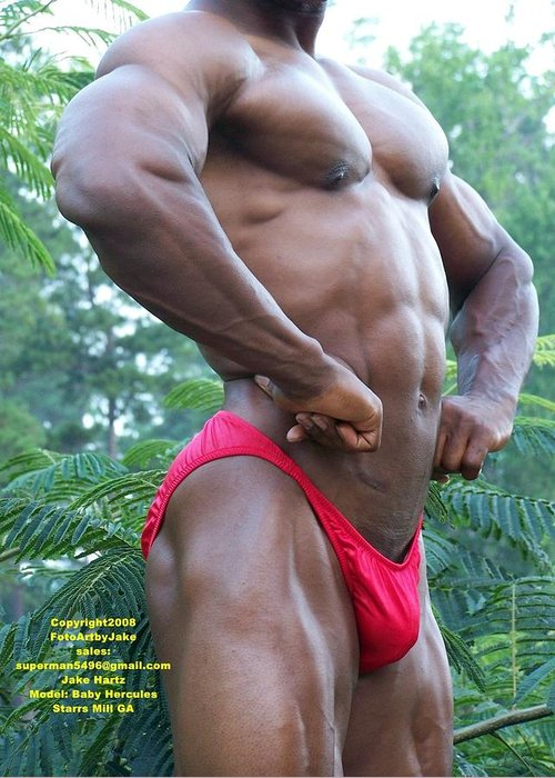 Muscle Greeting Card featuring the photograph Full Front by Jake Hartz