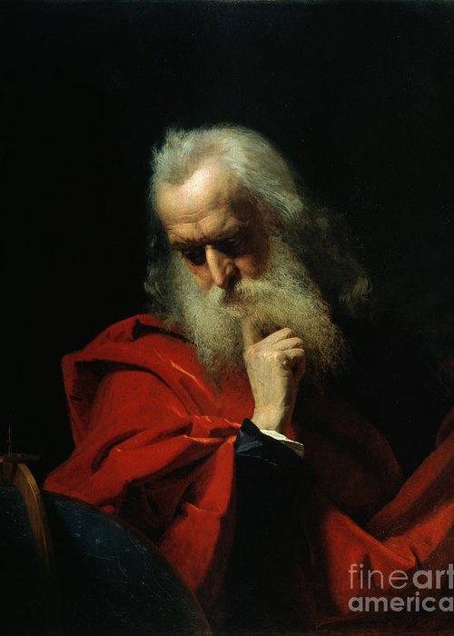 Galileo Greeting Card featuring the painting Galileo Galilei by Ivan Petrovich Keler Viliandi