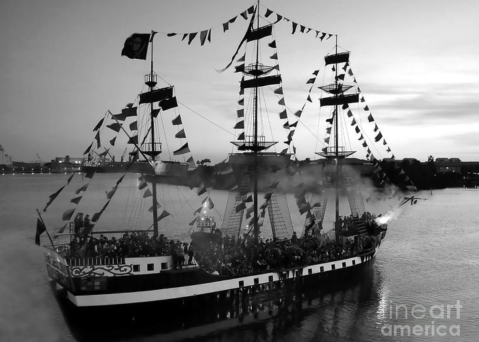 Pirates Greeting Card featuring the photograph Gang Of Pirates by David Lee Thompson