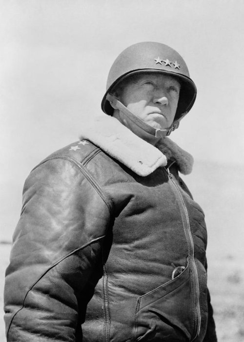 General Patton Greeting Card featuring the photograph General George S. Patton by War Is Hell Store