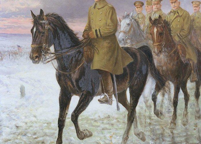 General Greeting Card featuring the painting General John J Pershing by Jan van Chelminski