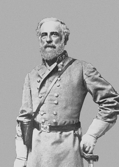Robert E Lee Greeting Card featuring the painting General Robert E Lee by War Is Hell Store