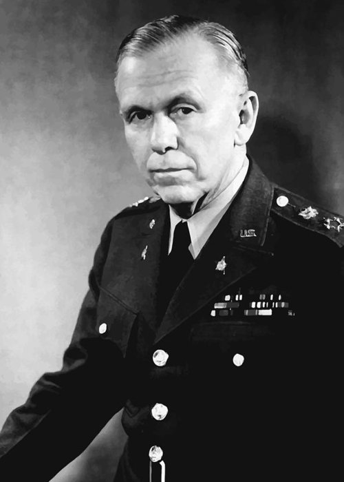 George Marshall Greeting Card featuring the painting George Marshall by War Is Hell Store