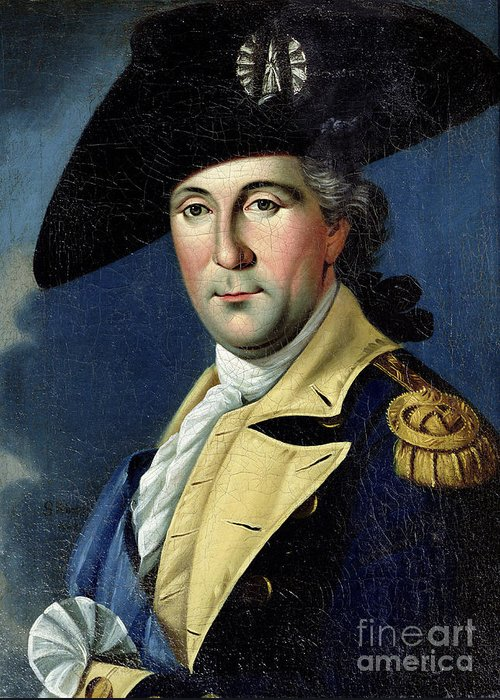George Greeting Card featuring the painting George Washington by Samuel King