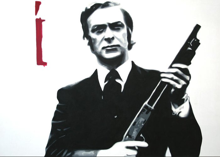 Michael Caine Greeting Card featuring the painting Get Carter 2013 by Luis Ludzska
