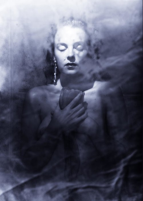 Woman Greeting Card featuring the photograph Ghost Woman by Scott Sawyer