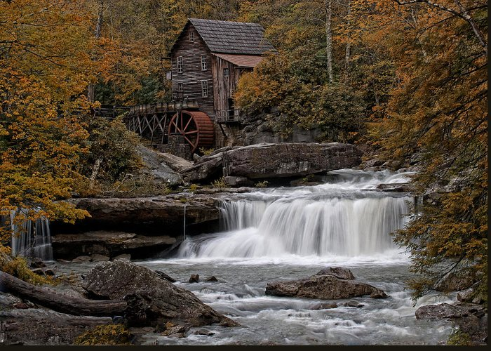 Mill Greeting Card featuring the photograph Glade Creek Mill 2011 by Wade Aiken