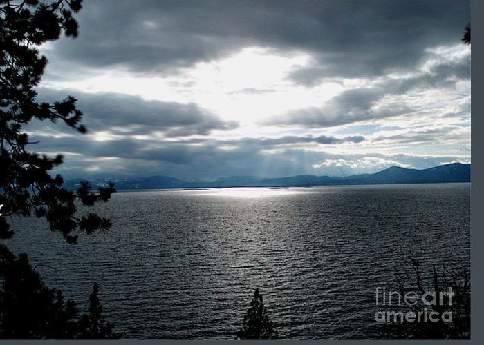 Glistening Lake Greeting Card featuring the photograph Glistening Lake by The Kepharts