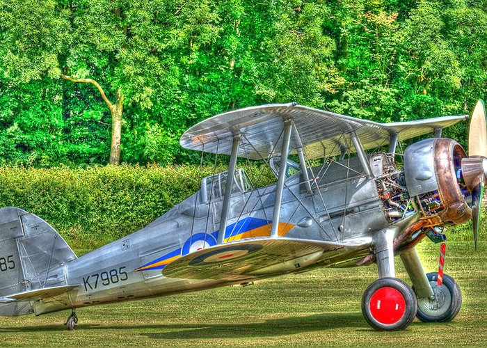 Aircraft Greeting Card featuring the photograph Gloster Gladiator 1938 by Chris Thaxter