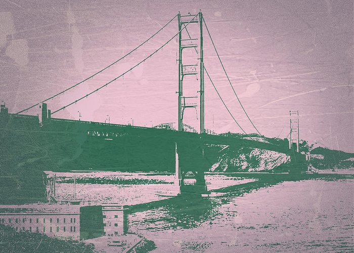 Greeting Card featuring the photograph Golden Gate Bridge by Naxart Studio
