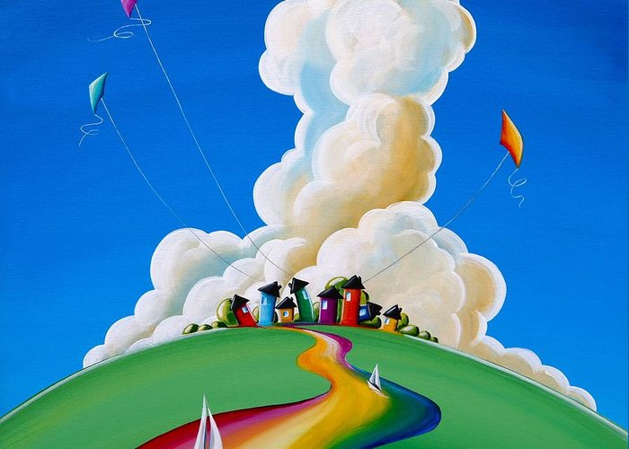 Rainbow Greeting Card featuring the painting Good Day Sunshine by Cindy Thornton