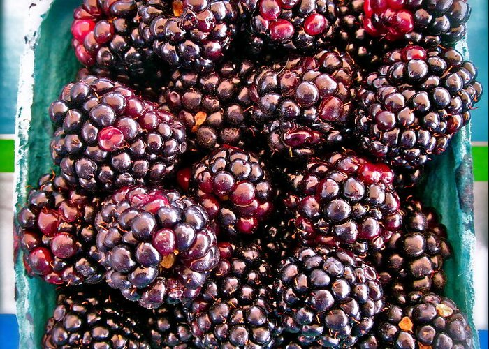 Photograph Of Berries Greeting Card featuring the photograph Gotta Have These by Gwyn Newcombe