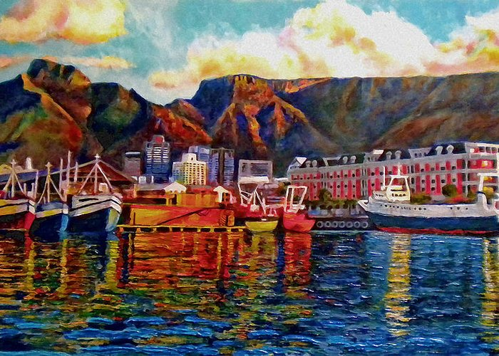 Seascape Greeting Card featuring the painting Grace At The Table 2.0 by Dr Michael Durst