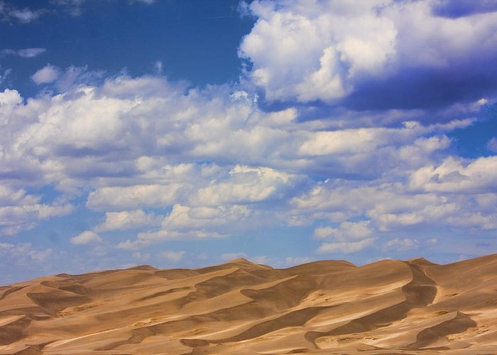 the Great Colorado Sand Dunes Greeting Card featuring the photograph Great Colorado Sand Dunes Mixed View by James BO Insogna