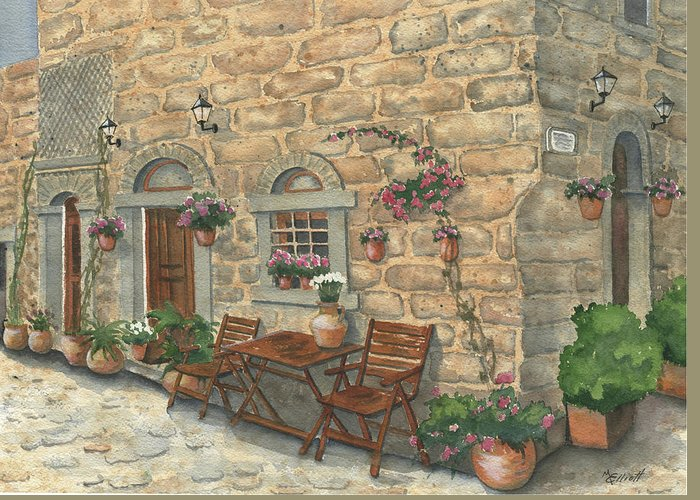Greece Greeting Card featuring the painting Grecian Charm by Marsha Elliott