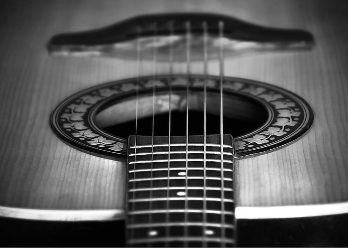 Accord Greeting Card featuring the photograph Guitar Close Up by Svetlana Sewell