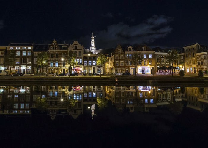 Haarlem Night Greeting Card featuring the photograph Haarlem Night by Chad Dutson