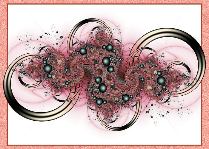 Fractal Greeting Card featuring the digital art Hadron Collider by David April