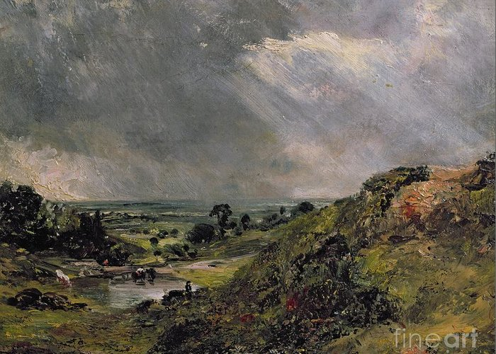 Hampstead Greeting Card featuring the painting Hampstead Heath by John Constable