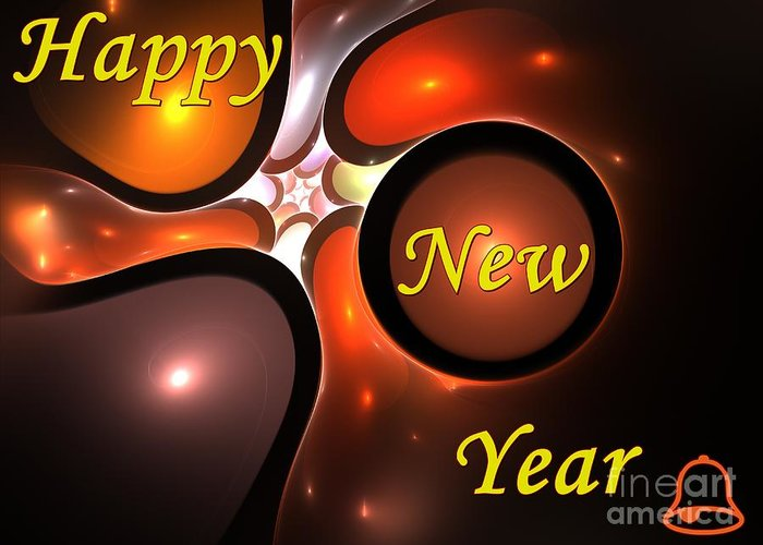Year Greeting Card featuring the digital art Happy New Year by Stefan Kuhn