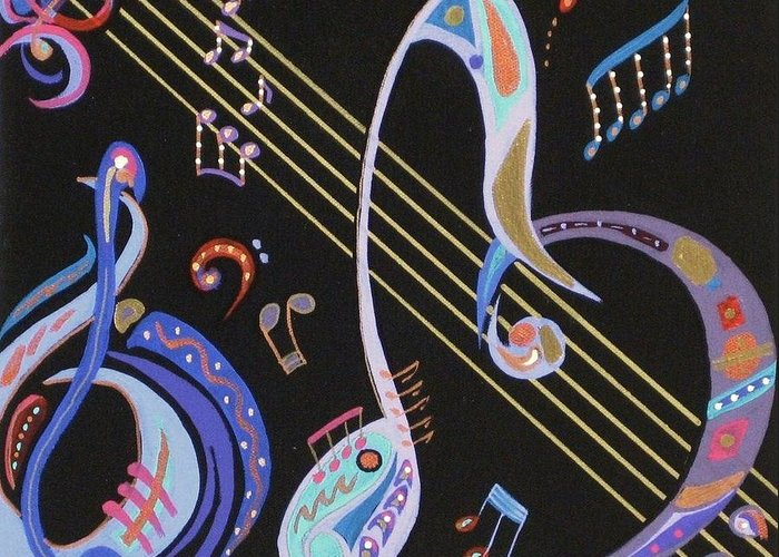 Paintings Greeting Card featuring the painting Harmony V by Bill Manson
