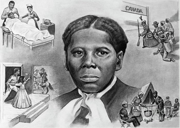 Harriet Tubman Greeting Card featuring the painting Harriet Tubman by Curtis James