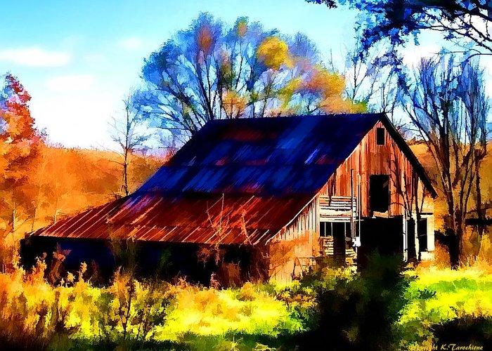 Barn Greeting Card featuring the photograph Harrison Barn by Kathy Tarochione