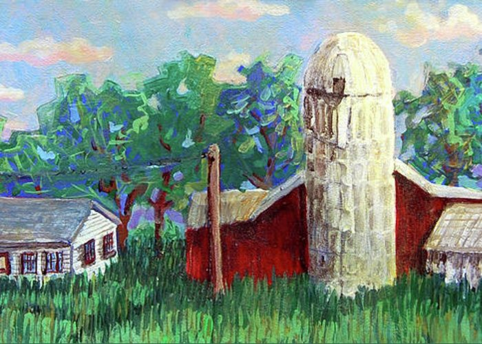 Farm Greeting Card featuring the painting Harry And Thelmas Place by Jame Hayes