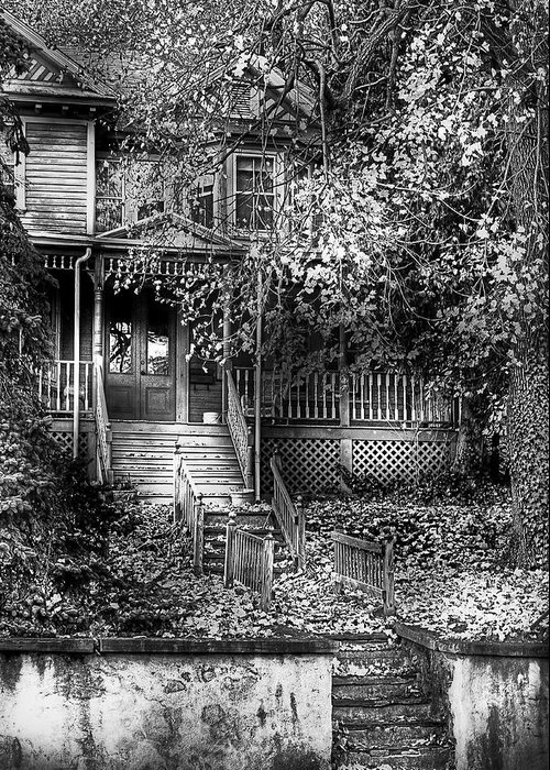 Savad Greeting Card featuring the photograph Haunted - Abandoned by Mike Savad