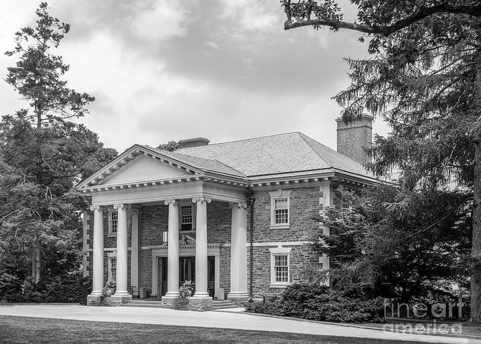 American Greeting Card featuring the photograph Haverford College Roberts Hall by University Icons