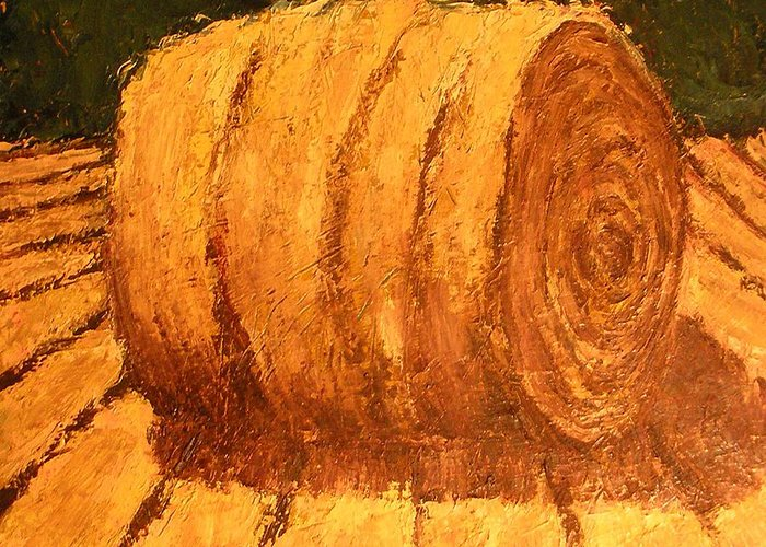 Art Sale Greeting Card featuring the painting Haybale by Jaylynn Johnson