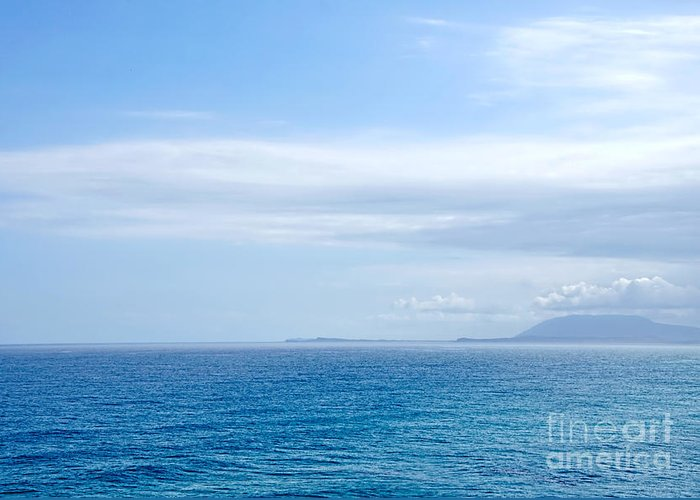 Photography Greeting Card featuring the photograph Hazy Ocean View by Kaye Menner