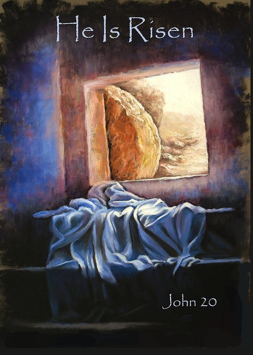 Christ Greeting Card featuring the pastel He Is Risen by Susan Jenkins