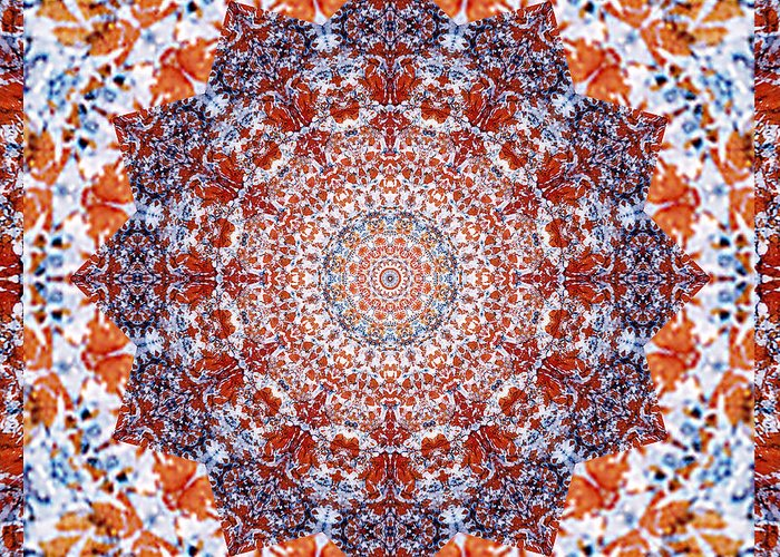 Yoga Art Greeting Card featuring the photograph Healing Mandala 2 by Bell And Todd