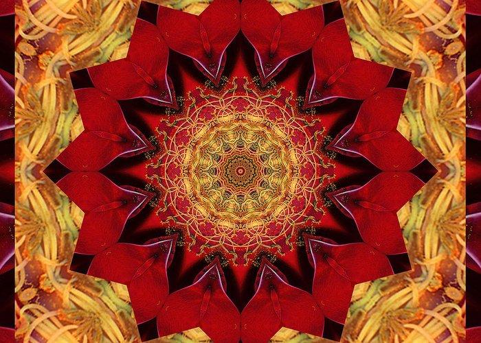 Mandalas Greeting Card featuring the photograph Healing Mandala 28 by Bell And Todd