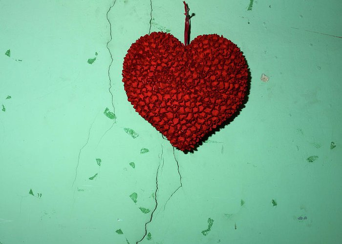 Hanged Greeting Card featuring the photograph Heart by Bernard Jaubert