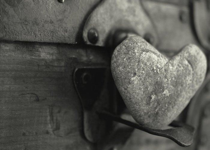 Heart Greeting Card featuring the photograph Heart Rock by Toni Hopper