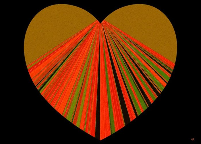 Heart Greeting Card featuring the digital art Heartline 5 by Will Borden